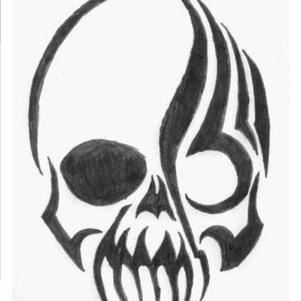 simple skull tattoo - HD1267×1708
